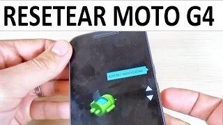 Como Resetear/Formatear Lenovo Motorola Moto G4, Play & Plus