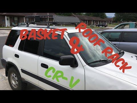 HONDA CRV ROOF RACK & BASKET HOW TO