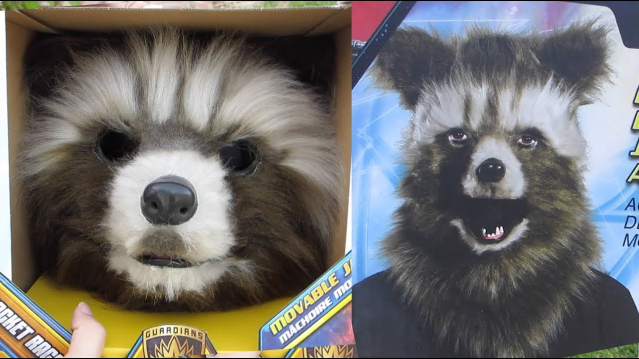Rocket raccoon mask unboxing and review