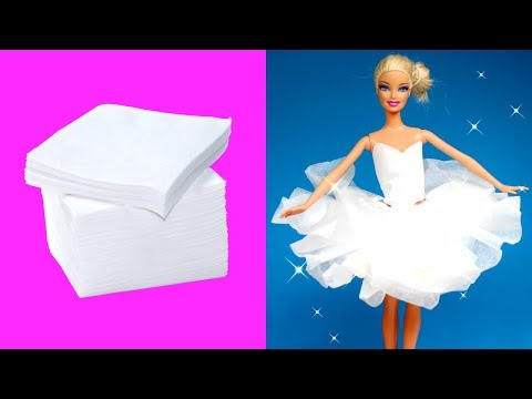 DIY Ballerina Paper Tutu Dress for Barbie Dolls | Making Easy Clothes for Barbies Creative for Kids
