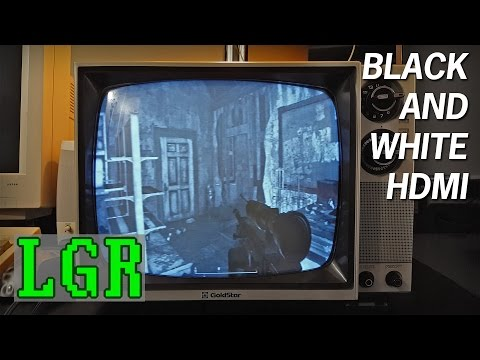 LGR - HDMI on a Black & White TV