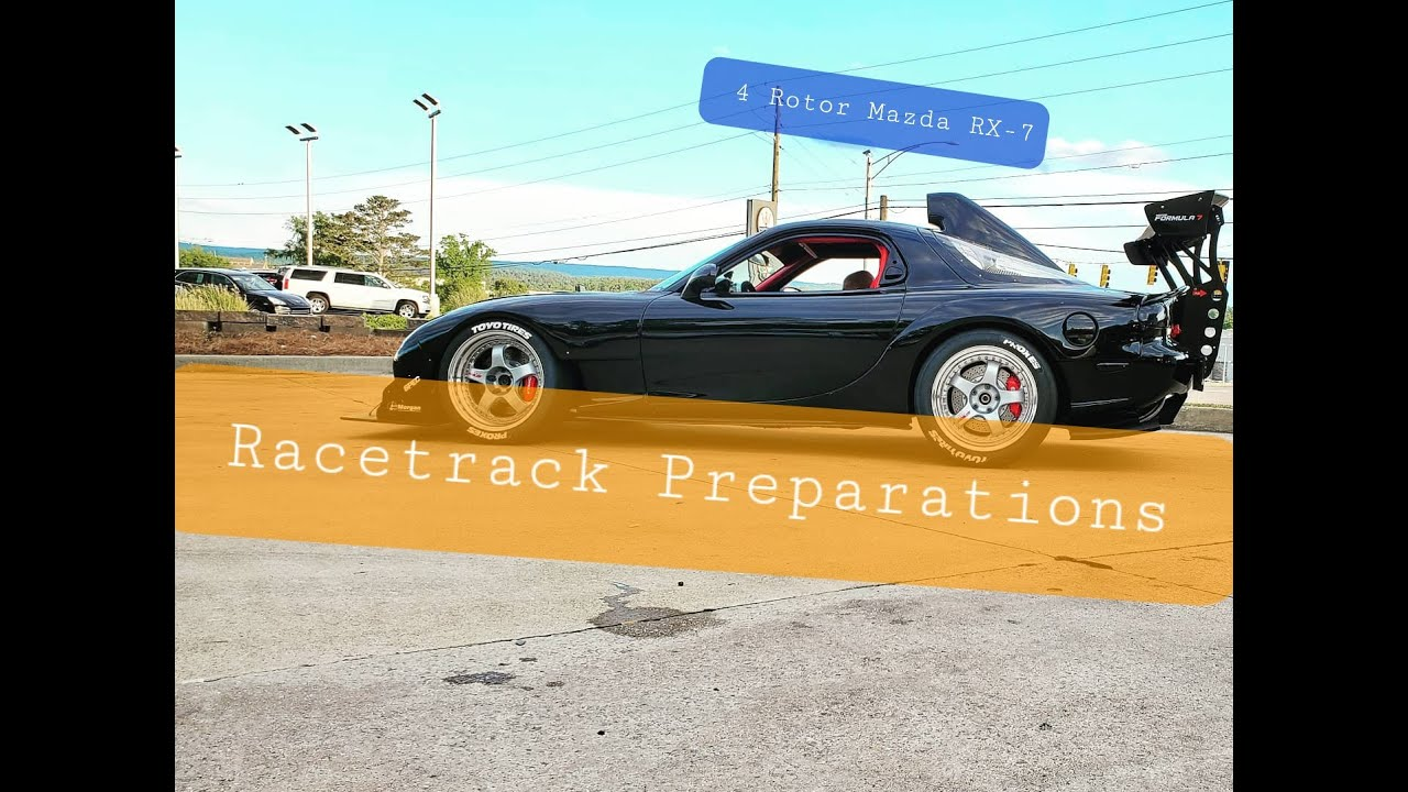 Getting Ready for the Racetrack! Turbo 4 Rotor Sequential Mazda Rx7 Brembo Hawk DTC Accusump