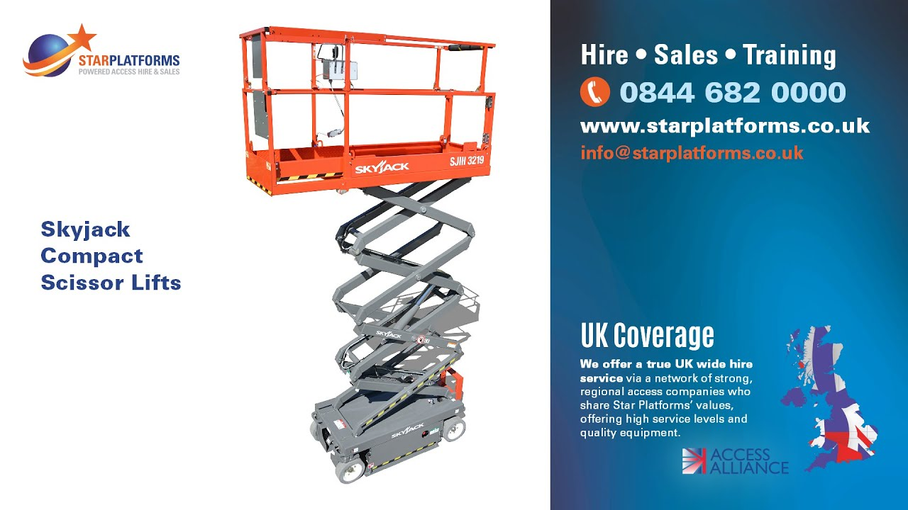 Skyjack 3219 Electric Scissor Lift - Hire or Buy from Star Platforms