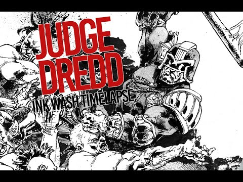 JUDGE DREDD  – Ink Wash Timelapse