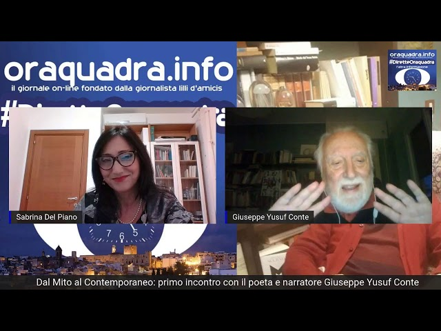 Dal Mito al Contemporaneo: intervista in diretta con il poeta e scrittore Giuseppe Yusuf Conte