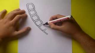 Como dibujar una cadena paso a paso | How to draw a chain