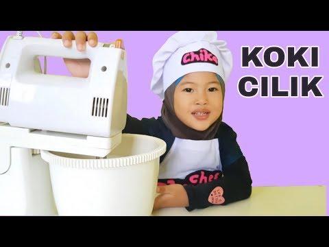 KOKI CILIK 💖 Chika Bikin Bolu Panggang 💖 Chef Chika 💖 Make Baked Sponge