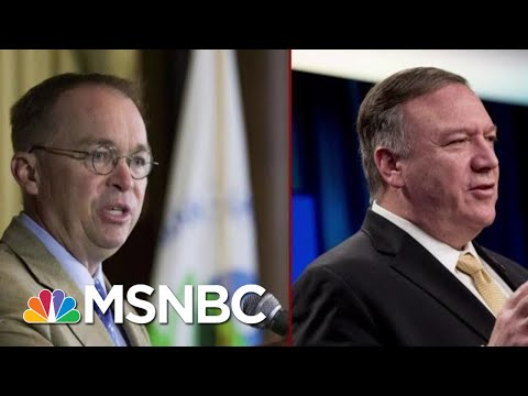 Two Central Figures Face New Scrutiny In The Impeachment Inquiry   Deadline   MSNBC