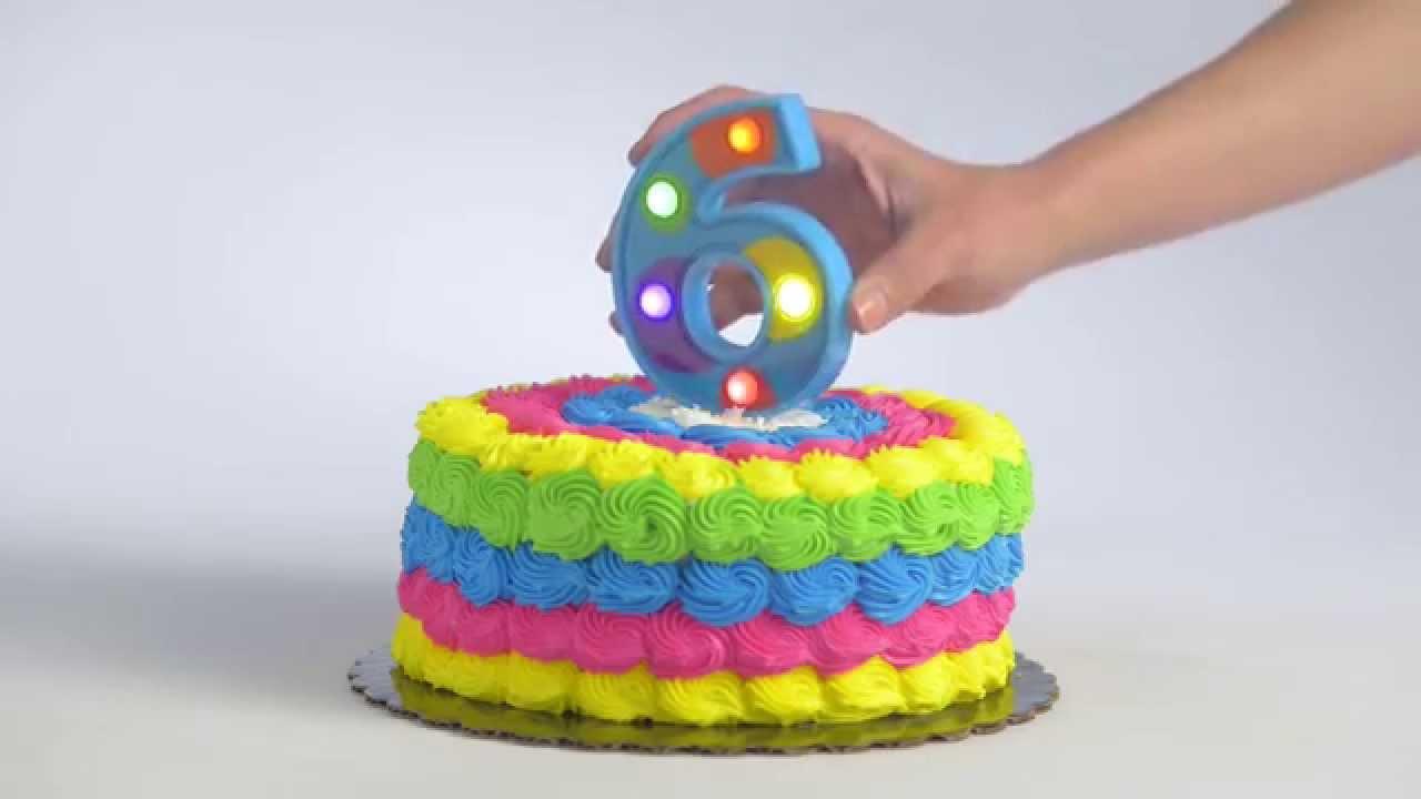 Flashing Number 6 Cake Decoration Youtube