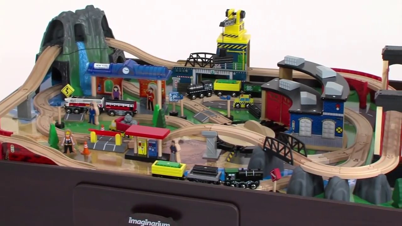 Imaginarium Mountain Rock Train Table - YouTube
