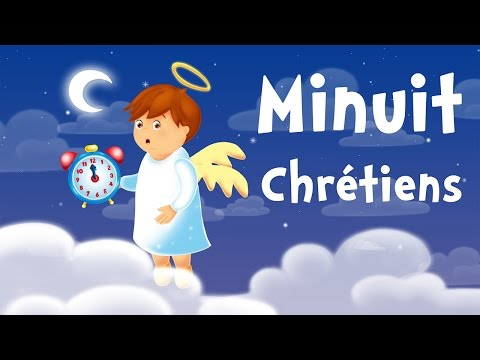 O Holy Night (christmas song for kids with lyrics to learn French)