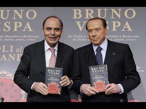 """Silvio Berlusconi è ospite d'eccezione alla presentazione del libro di Bruno Vespa """"Soli al Comando"""""""