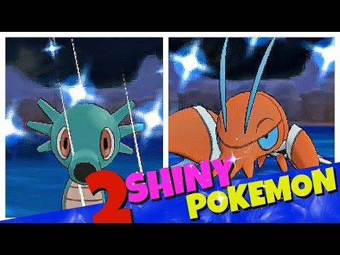 AWESOME! 2 LIVE SHINY POKEMON REACTIONS | SHINY HORSEA + SHINY CLAUNCHER | CHAIN FISHING POKEMON XY