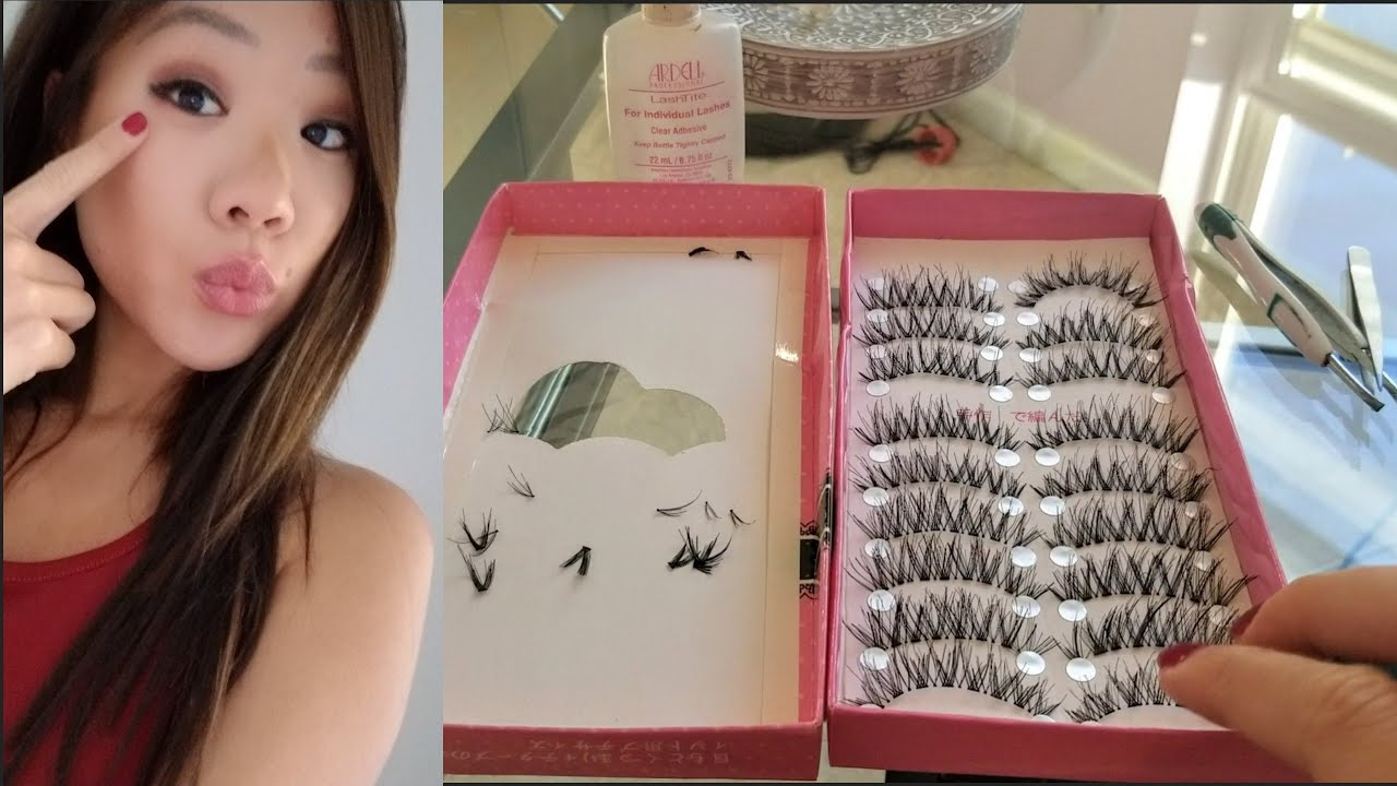How to do your own eyelash extensions at home | DIY - YouTube