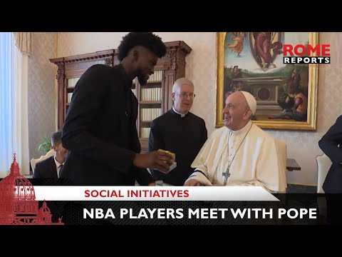 Five NBA players meet with Pope Francis to discuss social issues