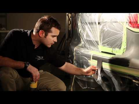 How to spray a test card for comparing automotive paint color.
