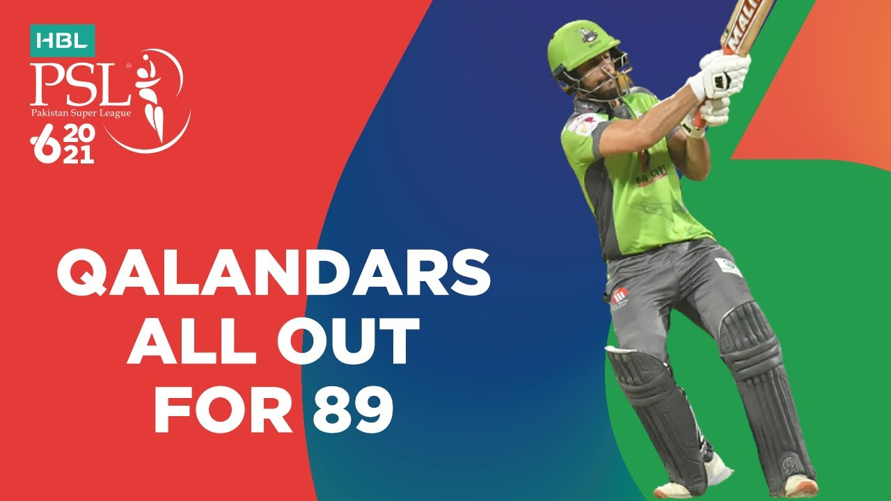 Qalandars All Out For 89   Lahore Qalandars vs Multan Sultans   Match 28   HBL PSL 6   MG2T