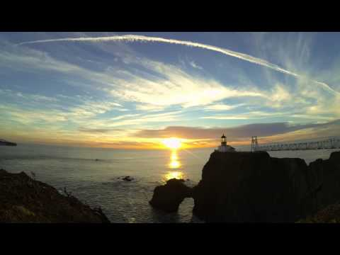 Point Bonita Sunset Timelapse   GoPro