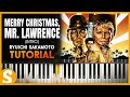 "How to play ""MERRY CHRISTMAS, MR. LAWRENCE"" [Intro] by Ryuichi Sakamoto 