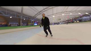 Skating at the rink in Haarlem, the Netherlands.