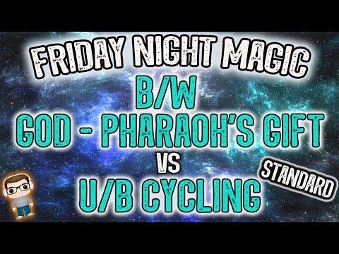 B/W God Pharaoh's Gift vs U/B Cycling - Friday Night Magic Gameplay - MTG