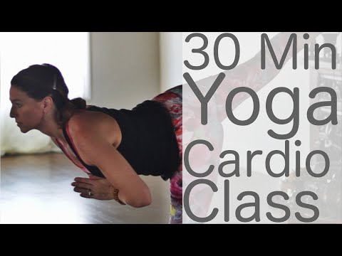 30 Minute Yoga Cardio (HIIT Workout) | Fightmaster Yoga Videos