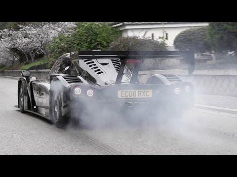 Radical RXC Turbo 500 Sound - Ford EcoBoost 3.5 V6 - Accelerations, Fly Bys & Burnout