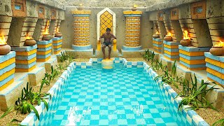Rise Creative Beautiful The King of Empire Underground Swimming Pool With The Throne