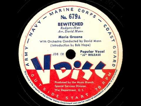 V-Disc 679 Marie Greene, Frank Sinatra, Bob Hope intro