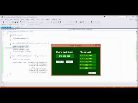 Beginning C# Tutorial 7 Random Number LuckDraw Phone Number