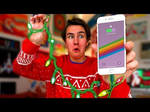 Download Youtube: Christmas Lights Charge Your iPhone?