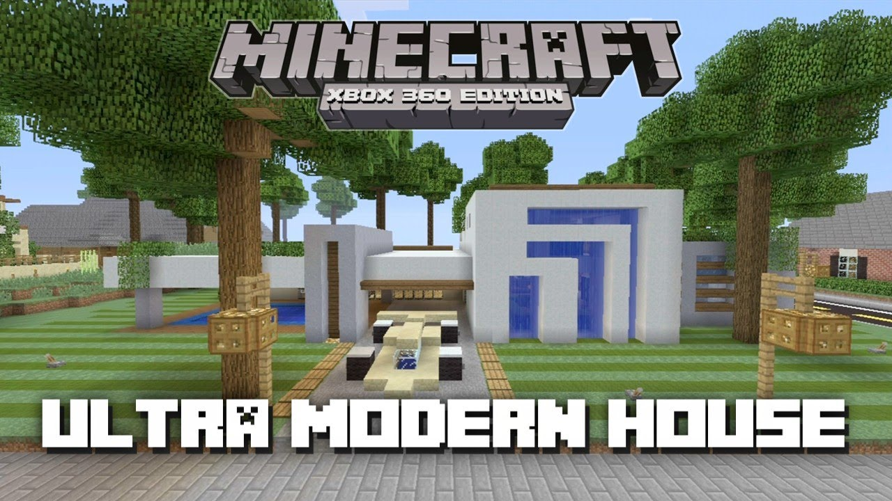 Minecraft xbox 360 ultra modern house house tours of for Modern house xbox minecraft