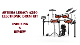 Artesia Legacy A-250 Electronic Drum Kit (Unboxing & Review)