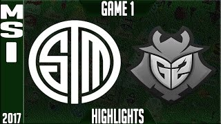 TSM vs G2 Highlights MSI 2017 Day 3 Group Stage - Team Solomid vs G2 Esports Highlights