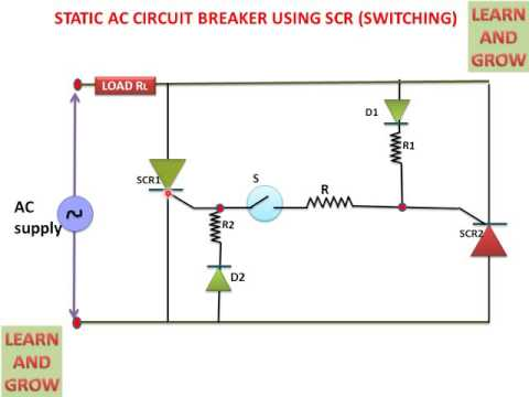 static ac circuit breaker using scr switching youtube. Black Bedroom Furniture Sets. Home Design Ideas