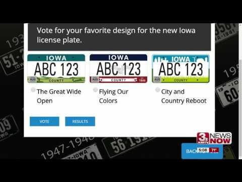 Vote on 3 new Iowa license plate designs