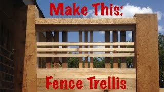 Make this:  Lattice (craftsman style)