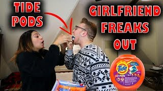 CRAZY TIDE POD CHALLENGE PRANK ON GIRLFRIEND!!