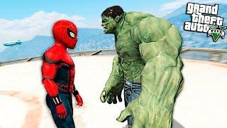 ЧЕЛОВЕК ПАУК ПРОТИВ ХАЛКА - GTA 5 МОДЫ - (spider-man vs hulk)(Человек паук против халка в рубрике GTA 5 моды, чможет ли человек паук победить халка или халк будет сильнее?..., 2016-08-02T10:00:01.000Z)