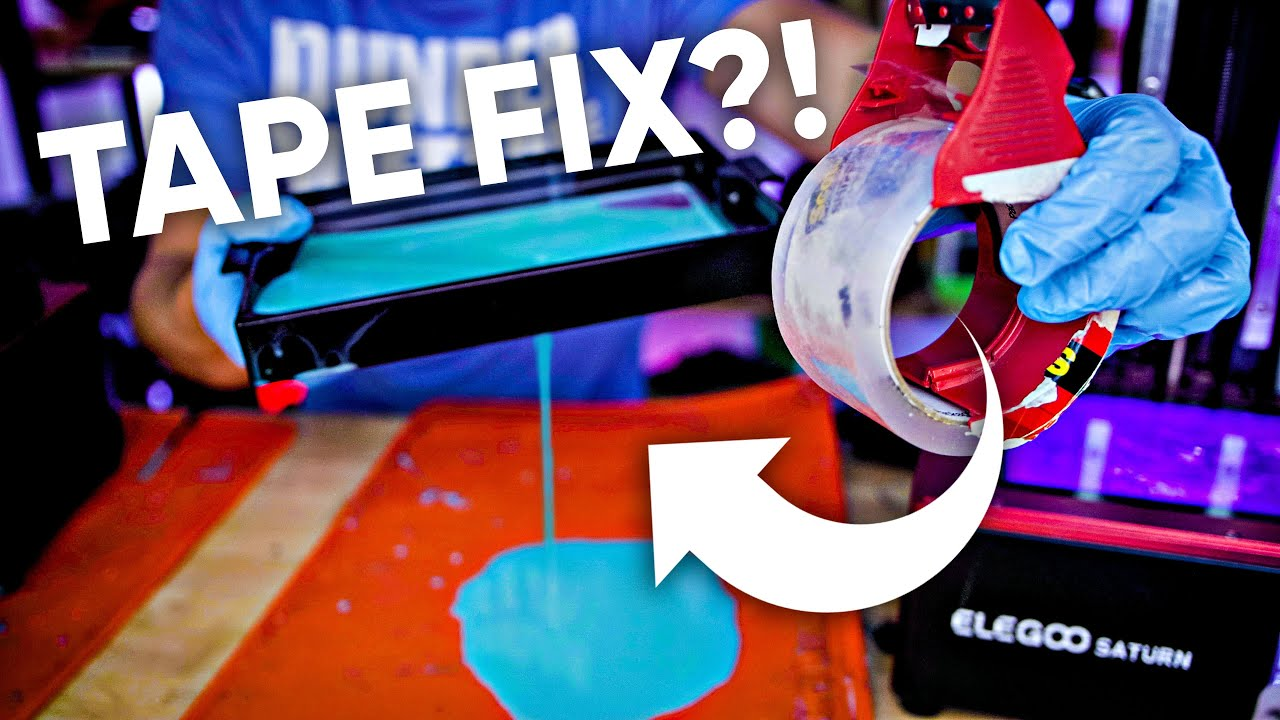 Can you fix a FEP with Tape? Resin 3D Printing Test!