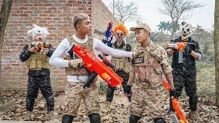 MASK Nerf War : Warrior Alpha Nerf Guns Fight Criminal Group Mask Weapon Deals