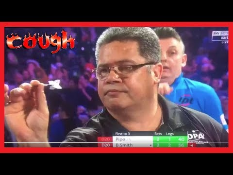 Justin Pipe Coughing Incident v Bernie Smith - 2018 PDC World Championships