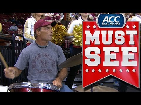 BC Great Doug Flutie Plays Drums with Eagles Marching Band | ACC Must See Moment