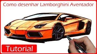Como desenhar carros: Lamborghini Aventador(Nesse vídeo tutorial você vai aprender a desenhar uma Lamborghini Aventador passo a passo! Foto usada de referência no vídeo: ..., 2016-07-12T14:58:19.000Z)