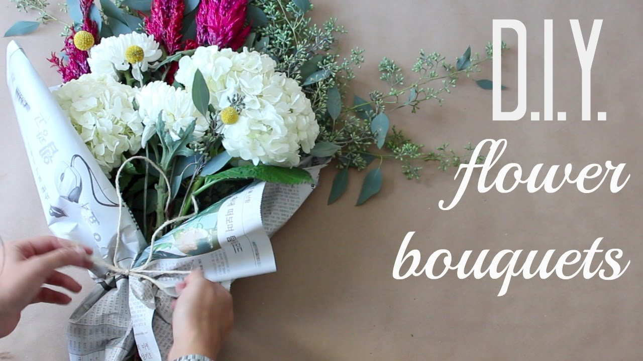 DIY Flower Bouquets | Anna Creative - YouTube