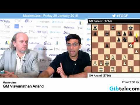 Masterclass Viswanathan Anand  - Tradewise Gibraltar Chess Festival 2016