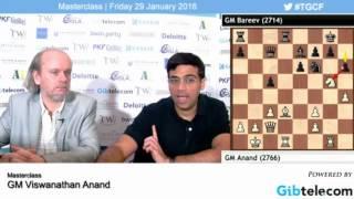 Masterclass Viswanathan Anand  - Tradewise Gibraltar Chess Festival 2016