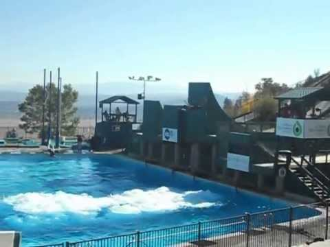 Utah Olympic Park Summer Freestyle Ski Practice into water, not snow