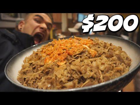 $200 MASSIVE GYUDON (Biggest I have Ever Seen)! JAPANESE FOOD CHALLENGE! Man Vs Food