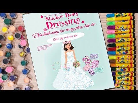 Đồ chơi dán hình trang điểm váy đầm búp bê - Tập 11 chiếc váy mơ ước - Sticker Dolly (Chim Xinh)